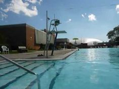 Olympic size pool located at the Freeport Recreation Center in Freeport, Long Island New York.