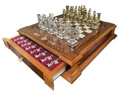 Wooden Board Games, Vintage Board Games, Whiskey Room, Chess Set Unique, Chess Table, Cribbage Board, Wood Carving Designs, Classic Board Games, Chess Pieces