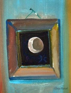 mesa dientes. Painting of the Serie Surrealism for sale by artist Diego Manuel