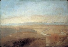 Hill Town on the Edge of the Campagna - William Turner, 1828