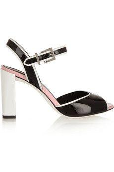 Fendi Color-block patent-leather sandals | NET-A-PORTER - http://www.net-a-porter.com/product/494936/Fendi/color-block-patent-leather-sandals