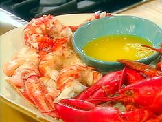 Slather the Neelys' recipe for Grilled Lobster Tails with Herb Butter, a homemade blend of chopped chives, tarragon and garlic from Food Network. Boiled Lobster Recipes, Steamed Lobster, Grilled Lobster, Crab And Lobster, Fish And Seafood, Lobster Tails, Lobster Food, Poached Lobster, Seafood Party