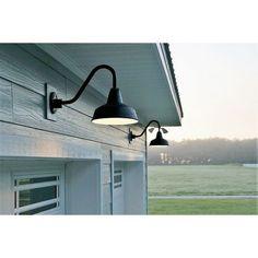 barn lighting on front of home's exterior - - Image Search Results Farmhouse Lighting, House Exterior, Wall Lights, Barn Lighting, Lights, Exterior Barn Lights, Garage Door Design, Gooseneck Lighting, Garage Lighting