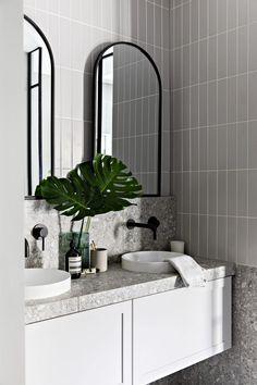 Bathroom Design Luxury, Modern Bathroom Decor, Bathroom Styling, Bathroom Renos, Laundry In Bathroom, Small Bathroom, Terrazzo, Bathroom Inspiration, Understairs Toilet