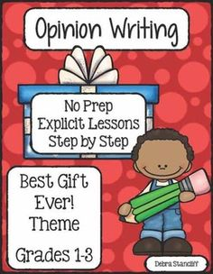 January Writing is here! Students love to tell what gifts they receive. Why not have them write about it!  This unit provides explicit instruction for students on how to write an opinion paper about their favorite gift. Mini-lessons, writing papers, and information pages are included!