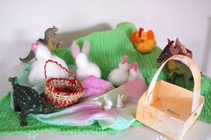 10 simple and unusual ideas to celebrate easter with children. Very cute wool fleece bunny tutorial inside.  www.parentingfuneveryday.com