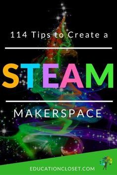 Do you ever wonder what you should include in a STEAM makerspace in schools? Here's a complete list of everything you'll need for maximum classroom impact. Steam School, Steam Art, Stem Steam, Steam Education, Music Education, Elementary Library, Upper Elementary, Elementary Teaching, Stem Projects