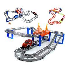 ダブルトラック電気鉄道電車きかんしゃトーマス鉄道トラック男の子のおもちゃ車ホットウィール車マシン子供のおもちゃ用子供