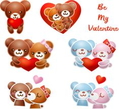 Happy Valentine's Day Images and Gifs Valentines Day Funny Images, Happy Valentines Day Mom, Bear Valentines, Happy Valentine's Day Husband, Love You Husband, Educational Baby Toys, Little Bit Of Love, Illustration, Fashion Decor
