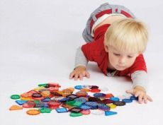 Buy Assorted Large Transparent Coloured Buttons Online