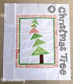 O Christmas Tree Quilt Block by Little Miss Shabby via flickr