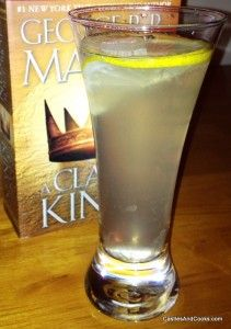 #GameOfThronesCocktails Lemonsweet Makes 4 servings Ingredients 4 lemons 6 tablespoons of simple syrup 6 ounces of vodka 12 ounces of water or sparkling water