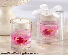 Elegant Orchid Tealight Holder at http://www.BlissWeddingsMarket.com!