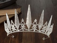 Amazon.com : SWEETV Baroque Wedding Tiara for Women, Silver Pageant Tiaras and Crowns, Costume Party Accessories for Birthday Halloween Prom : Beauty Party Accessories, Costume Accessories, Baroque Wedding, Crown For Women, Rhinestone Wedding, Tiaras And Crowns, Pageant, Headbands, Prom