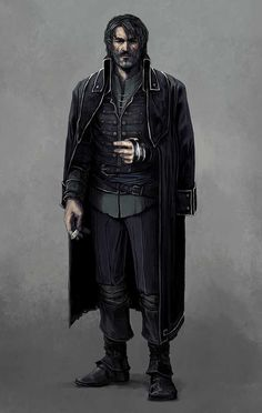 Dishonored: Pirate AU Corvo by coupleofkooks - Best Character Designs 2019 Dungeons And Dragons Characters, D D Characters, Fantasy Characters, Cthulhu, Fantasy Character Design, My Character, Character Concept, Fantasy Rpg, Dark Fantasy