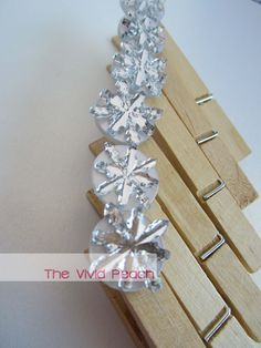 Mirrored Snowflakes. Garland Clips. Christmas Card Display