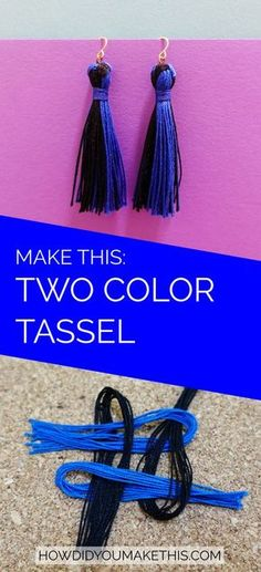 Make your own on-trend tassel earrings in whatever colors you like!