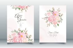 Beautiful Wedding Invitation Card Graphic by nurincedominggas979 · Creative Fabrica Beautiful Wedding Invitations, Wedding Invitation Cards, Print Templates, Place Card Holders, Birthday, Creative, Floral, Party, Card Templates Printable