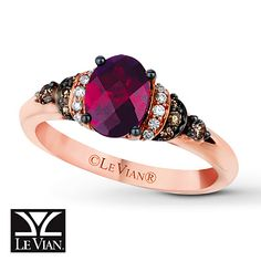 So gorgeous. Le Vian Rhodolite Garnet 1/6 ct tw Diamonds 14K Gold Ring