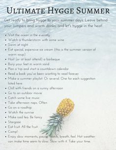 Hygge year-round —anywhere you love. Hygge for summer/ warmer climates. The Last Summer, Summer Fun, Summer Months, Summer Ideas, Summer Things, Summer Goals, Enjoy Summer, Hello Summer, Simple Things