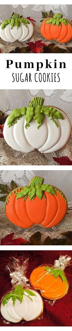 Pumpkin sugar cookies available in four flavors #affiliate