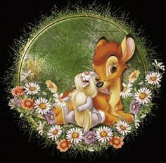 How cute is this Bambi and Thumper piece? Bambi Disney, Cute Disney, Disney Pixar, Disney Tattoos, Disney Magic, Disney Art, Bambi And Thumper, Bambi 3, Lilo Et Stitch