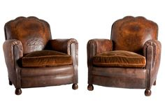 leather chairs +study +library +english +old world+ vintage +eclectic +decor +home +decorating +ideas+velvet cushion