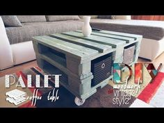 Vintage Style Coffee Table From Pallet - VIDEO | Hometalk
