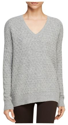 Vince Brick Texture Double Vneck Wool Cashmere Sweater. This Vince  sweater is one of Tradesy's Top Ten deals of the week! Save 62% when you shop now