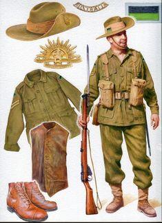Australia; 6th Division, Infantryman, N.Africa, c.1941                                                                                                                                                                                 More