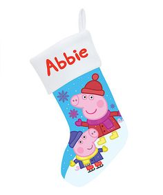 Another great find on #zulily! Peppa Pig Winter Fun Personalized Stocking #zulilyfinds