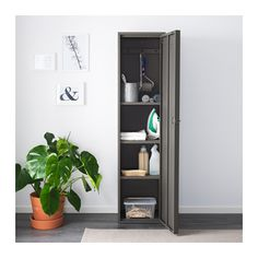 IVAR Skåp med dörr, grå grå 40x160 cm