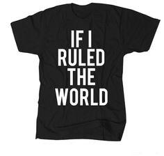 Made Kids If I Ruled The World tee in Black