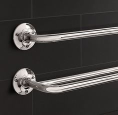 Sutton Double Towel Bar On sale for $109 Comes in Satin Nickel