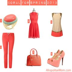 """""""Coral for Spring"""" by afropolitanmom on www.theAfropolitanMom.com    Afropolitan Mom"""