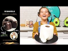 How to make a cheeky toilet roll cake with Bakels Gluten Free Chocolate Cake Mix White Chocolate Truffles, Chocolate Cake Mixes, Gluten Free Chocolate Cake, Gold Labels, Cake Tutorial, Fondant, 3 D, Toilet, Rolls