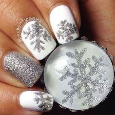 #Christmas #Nail Most Popular Christmas Nail Designs of 2017