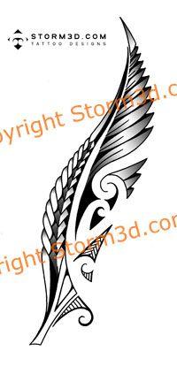 Maori fern tattoo with koru swirls | The Best Tattoo Designs