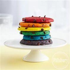 Rainbow #Cookies from Pillsbury® Baking