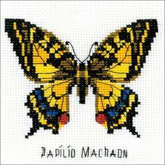Cross stitch butterfly and chart. Swallowtail Butterfly Counted Cross Stitch Kit