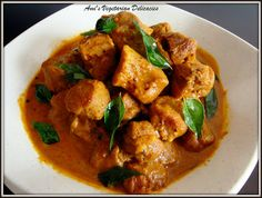 Ami's Vegetarian Delicacies: Soy Meat Curry (Textured Soy Protein)