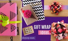 Ready to wrap a million presents in a couple of hours? It may seem pretty daunting when you have large piles of gifts to wrap and not much time to do it, but these fun, easy and creative gift wrapping ideas will show you how to wrap a gift in amazing ways you never thought of. We included step by st