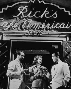 """Casablanca"" Paul Henreid, Ingrid Bergman, and Humphrey Bogart 1942 Warner Bros."