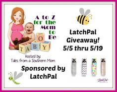 Hosted by: Tales From A Southern Mom Sponsor: LatchPal Prize: LatchPal in choice of colors The LatchPal Breastfeeding Clip is a patent pending clip that was designed for mom's by a mom and it is a …