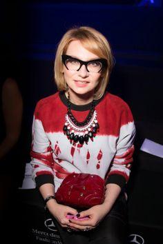 Эвелина Хромченко, показ Alena Akhmadullina SS14