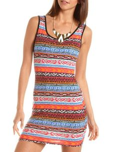 Aztec Print Body-Con Dress: Charlotte Russe