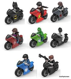 Custom superheroes minifigs & #motorbikes #comic book characters #gambit batman, View more on the LINK: http://www.zeppy.io/product/gb/2/231844820105/