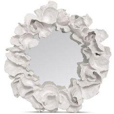 glamorous mirrors   Mirrors - White Coco Coral Mirror glamorous wall decor - white, coco ...