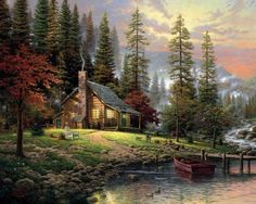 Thomas Kinkade-A Peaceful Retreat