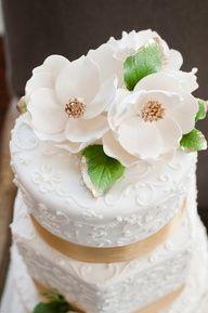 Clay Flowers Wedding cake